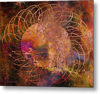 Metal Print featuring the digital art Sign Of The Times - Abstract by J Larry Walker