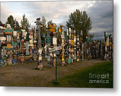 Sign Post Forest Metal Print by Mark Newman