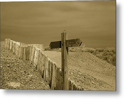Sign Post To Nowhere 2 Metal Print by Christopher Rowlands