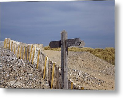 Sign Post To Nowhere Metal Print by Christopher Rowlands