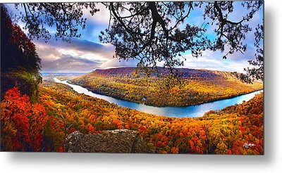 Signal Point At Fall Metal Print