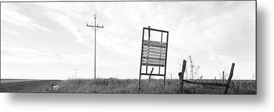 Signboard In The Field, Manhattan Metal Print by Panoramic Images