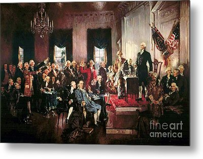 Signing Of The United States Constitution Metal Print by Pg Reproductions