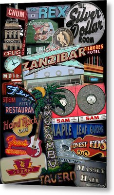 Signs 1c Metal Print by Andrew Fare