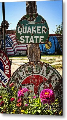 Signs Of The Times On Route 66 Metal Print by Lee Craig
