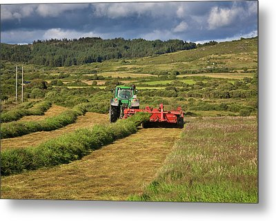 Silage Making,near Bantry,county Cork Metal Print by Panoramic Images