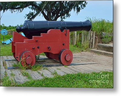 Silent Cannon Metal Print by Alys Caviness-Gober