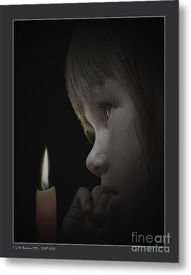 Silent Child Metal Print by Pedro L Gili