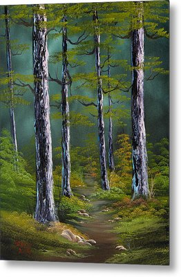 Quiet Pines Metal Print