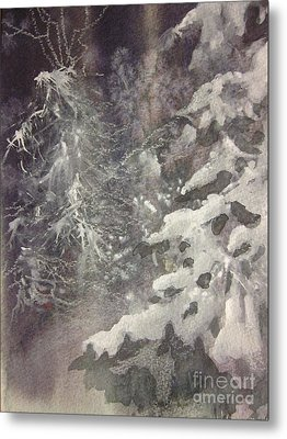 Metal Print featuring the painting Silent Night by Elizabeth Carr