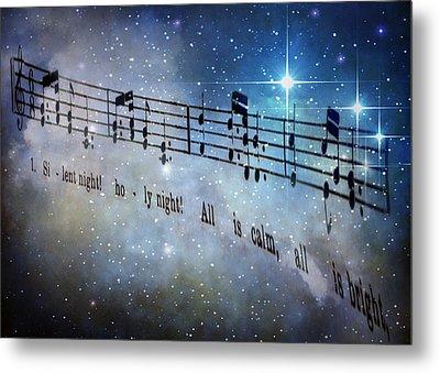 Silent Night Holy Night Metal Print by David and Carol Kelly