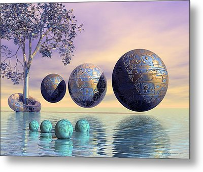 Silent Seven - Surrealism Metal Print by Sipo Liimatainen