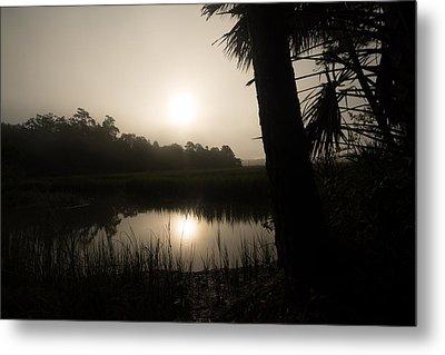 Silhouette  Sunrise Metal Print by Margaret Palmer