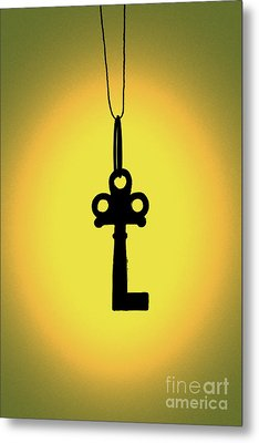 Silhouetted Key Metal Print
