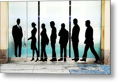 Silhouettes On Broadway Metal Print by Allen Beatty