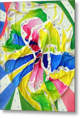 Silk Color Whirl Metal Print by Sandra Fox