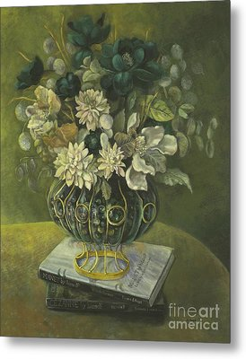 Silk Floral Arrangement Metal Print