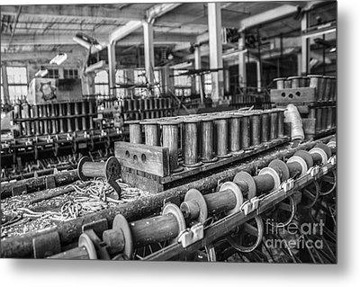 Silk Mill Floor Metal Print by Terry Rowe