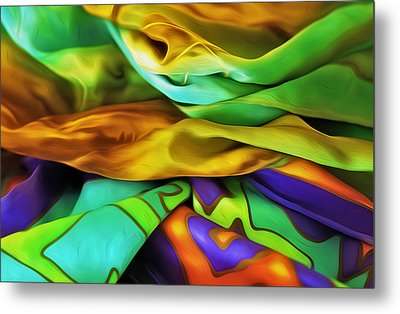 Silken Metal Print by Nancy Marie Ricketts
