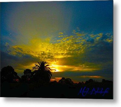Silken Sunset Metal Print by Mark Blauhoefer
