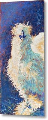 Silkie Rooster Metal Print by Tracy L Teeter