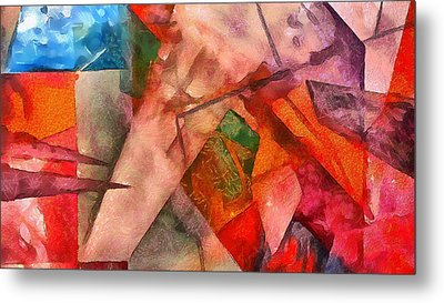 Silky Abstract Metal Print by Catherine Lott
