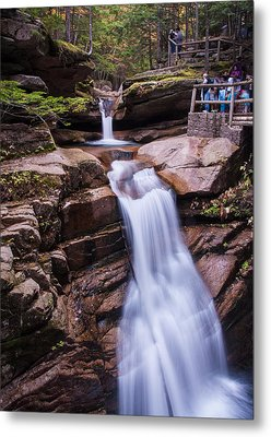 Silky Sabbaday Falls Metal Print by Karen Stephenson