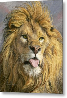 Silly Face Metal Print by Lucie Bilodeau