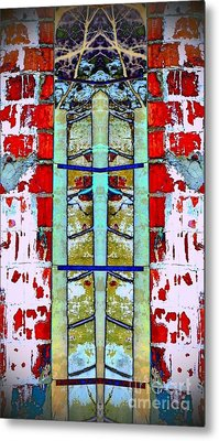 Metal Print featuring the photograph Silo Abstract 2 by Karen Newell