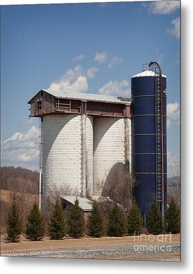 Metal Print featuring the photograph Silo House With A View - Color by Carol Lynn Coronios