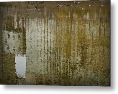 Silo Reflection Metal Print by Eric Soucy