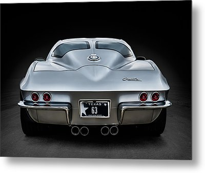Silver '63 Metal Print by Douglas Pittman