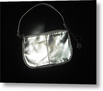 Silver Bag With Rose Locket Metal Print by Robert Cunningham