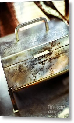Silver Box Metal Print by HD Connelly