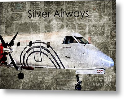 Silver Instrument Panel Metal Print by Diane E Berry