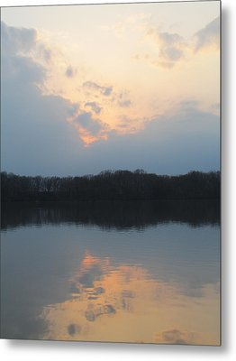 Silver Lake Golden Skies Metal Print by Jaime Neo