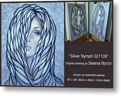 Metal Print featuring the painting Silver Nymph 021109 Comp by Selena Boron