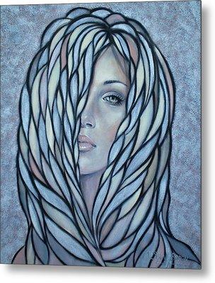 Silver Nymph 021109 Metal Print by Selena Boron