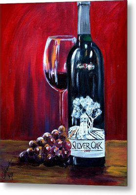 Silver Oak Of Napa Valley And Grape Metal Print