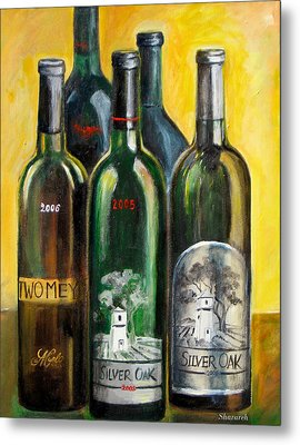 Metal Print featuring the painting Silver Oak by Sheri  Chakamian