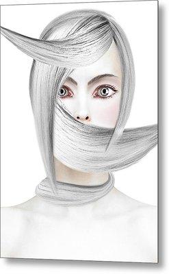 Silver One Metal Print by Yosi Cupano