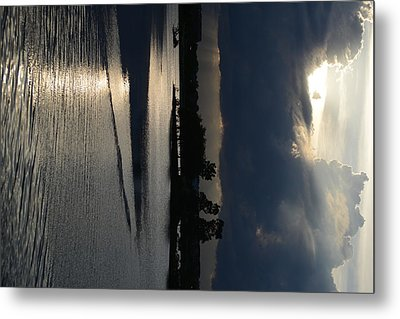 Silver Reflections Metal Print by Adam Panek