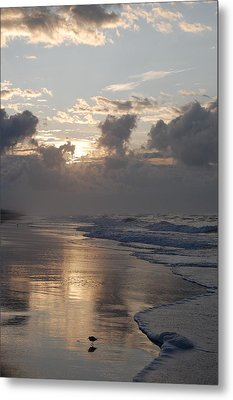 Metal Print featuring the photograph Silver Sunrise by Mim White