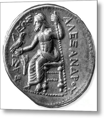 Silver Tetradrachm Of Alexander Metal Print by Photo Researchers