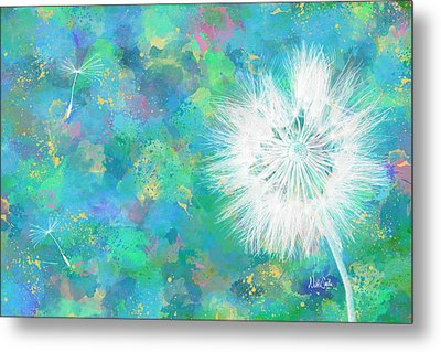 Silverpuff Dandelion Wish Metal Print by Nikki Marie Smith