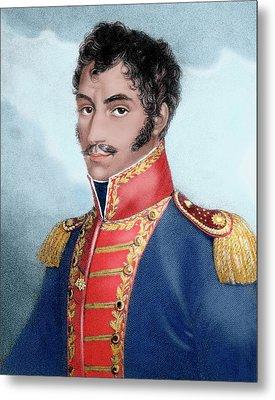 Simon Bolivar (caracas, 1793-santa Metal Print by Prisma Archivo