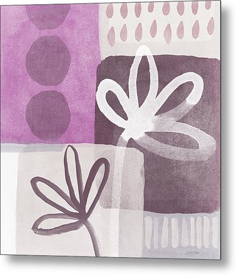 Simple Flowers- Contemporary Painting Metal Print