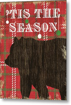 Simple Living Holiday Bear Metal Print by Michael Mullan