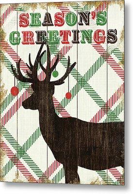 Simple Living Holiday Deer Metal Print by Michael Mullan