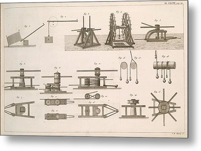 Simple Machines Metal Print by Science, Industry And Business Library/new York Public Library